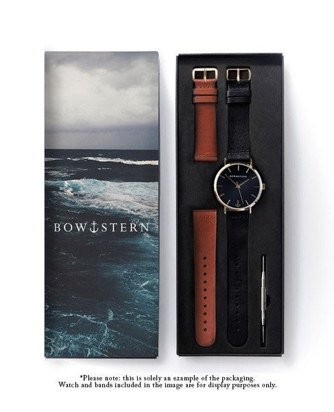 Baltic - Matte Black Watch | Brown Leather