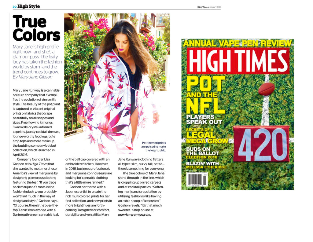 "High Times Magazine Features ""Mary Jane Runway"""
