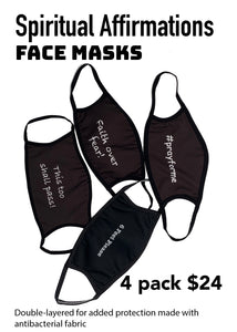 "Face Masks 4 Pack ""Spiritual Affirmations"""