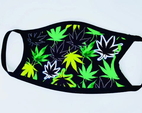 Face Mask Marijuana Print