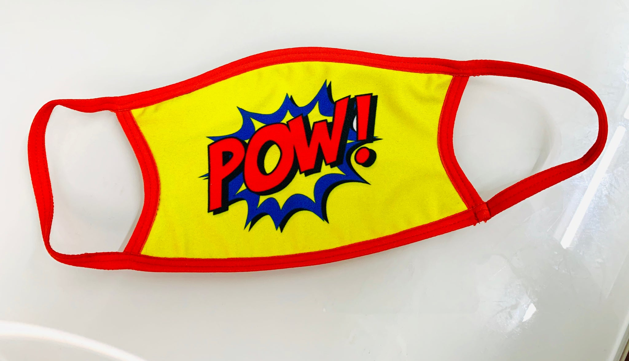 "Face Mask Superman ""POW"""