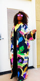 Mary Jane Runway Afro Head Sequins Coat