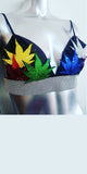 Mary Jane Runway Marijuana Leaf Bra