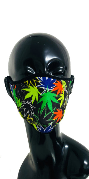 Face Mask Weed Print
