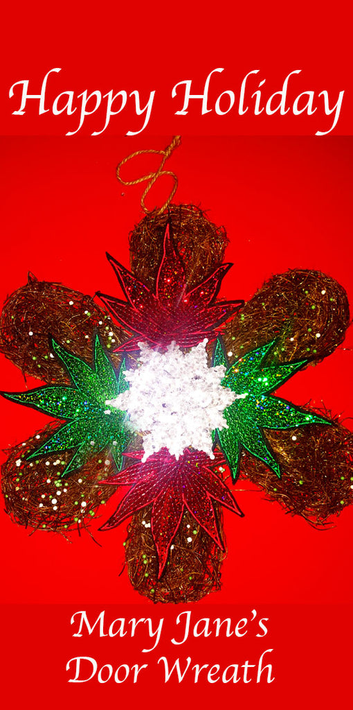 Marijuana Door Wreath