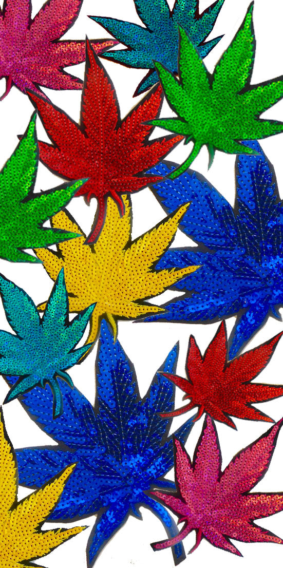 Marijuana Sequins Patches