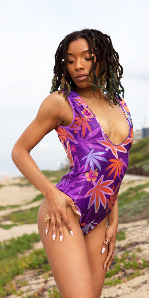 Purple Haze Reversible Swimsuit