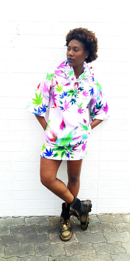 "Mary Jane Runway ""Pothead"" Hoodie Dress"