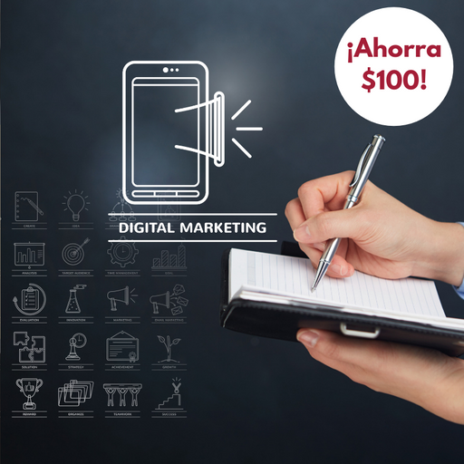 Certificado Profesional Digital Marketing | ¡Paga por adelantado y ahorra $100!