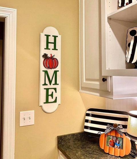 Pumpkin Home Sign