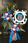 Coast Guard Inspired Oval Wreath