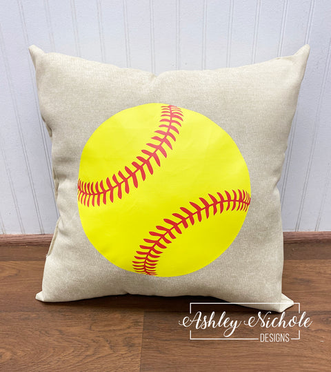 "18"" Custom - Softball Pillow"
