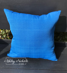 "18"" Outdoor Pillow-Royal Blue"