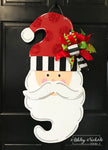 Santa-Red Glitter Dots Door Hanger