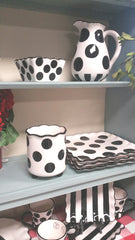 BLACK Polka Dot Utensil Holder