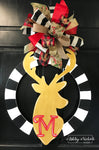 "24"" Deer Head Initial Door Hanger"