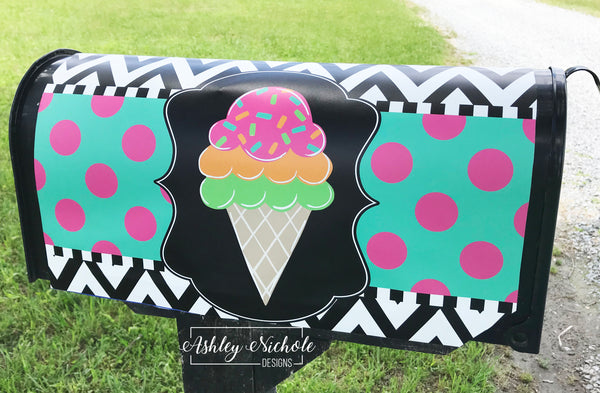 Ice Cream Magnetic Mailbox Cover