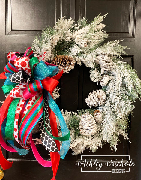 "26"" Snowy Pinecone Wreath"