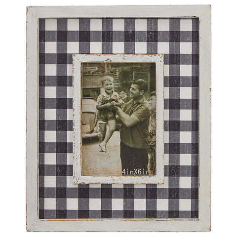 Buffalo Check Picture Frame 12""