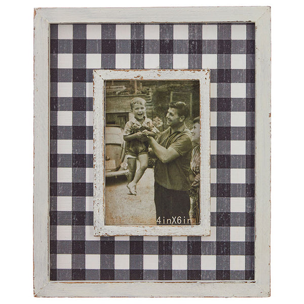 Buffalo Check Picture Frame 11""