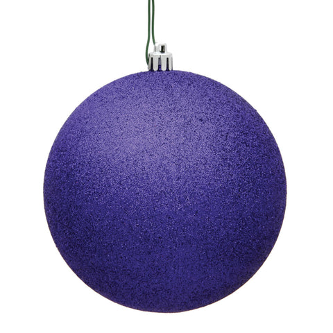 "Ornament Ball- 4.75"" Purple Glitter Ball"