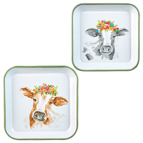 Cow Tray Decor - Assorted Styles