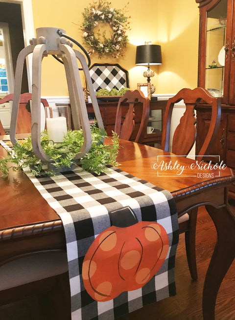 Table Runner - Buffalo Check Pumpkin Table Runners