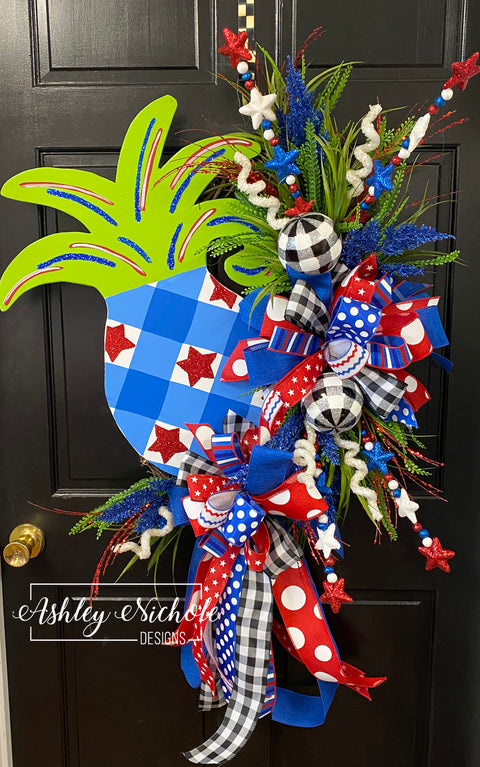4th of July Pineapple Wreath