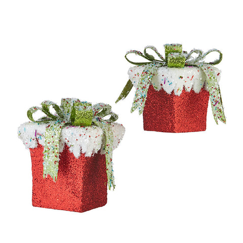 Frosted Candy Package - (SET of 2) 8.25""