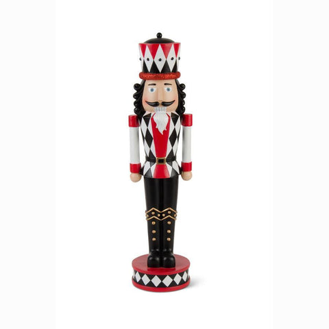 20 Inch Large Black, Red, and White Soldier Nutcracker
