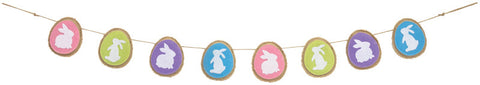 Bunny Egg Easter Banner Fabric 5'