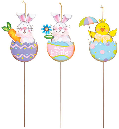 Easter Egg Pal Pick - Metal - 22""
