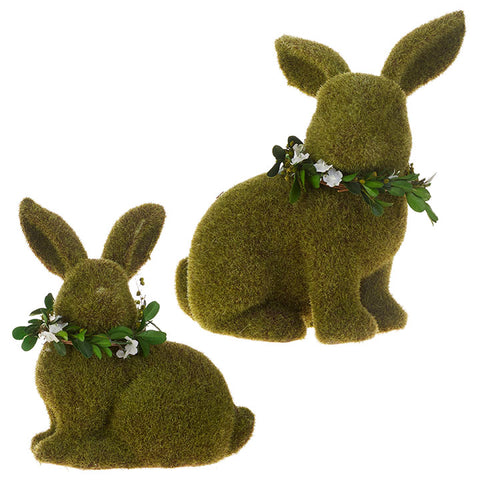 "9.5"" Moss Rabbit - Standing or Sitting"