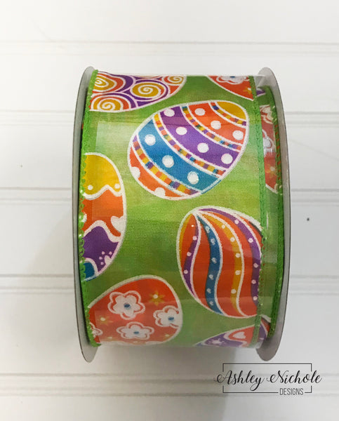20 Yards - Easter Fest  Ribbon - Wired Edge