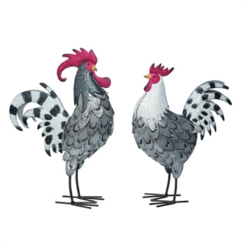 LG Metal Rooster Décor - Choice of 2