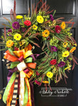 Aster & Grasses Fall Blend Wreath