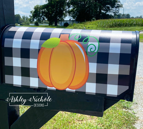 Buffalo Check and Pumpkin Mailbox