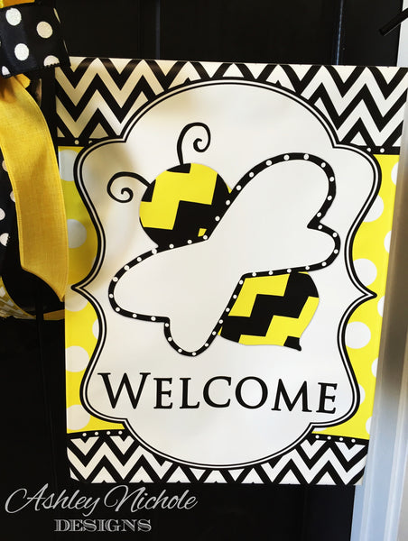 Bumble Bee Garden Vinyl Flag