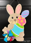 Bunny with Egg Stack Door Hanger