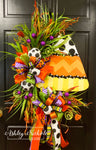 Candy Corn Oval Wreath