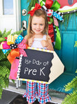 Chalkboard Pencil Door Hanger