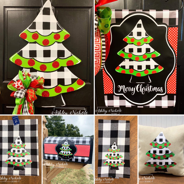 Combo Sets!!! Christmas Tree - Black and White Buffalo Check Collection