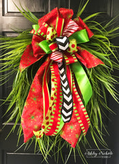 "Christmas Grass Wreath-24"" Oval"