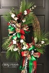 Christmas Tree Truck Coordinating Oval Wreath