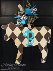 Cow-Brown - Door Hanger
