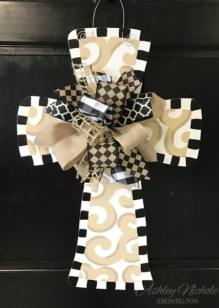 Swirl - Cross - Door Hanger