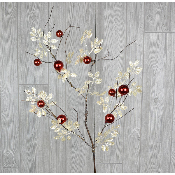 Pick - Glitter Smilax Ball Spray