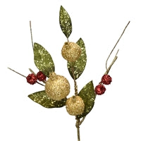Pick - Beaded Pomegranate Berry with Leaf 24""
