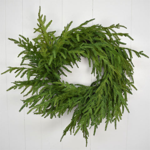 "24"" Natural Touch Granch Nortfolk Pine Wreath"