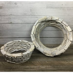 Stacked Driftwood Round Open Bottom Planters -   Choose from 2 sizes